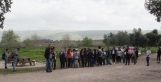 students preparing for walk in the Hula Valley Preserve