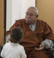 Ruba's grandfather, father's side and Ruba's cousin.